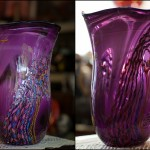 "Hand Blown Art Glass (signed) - H17"" x W12"""