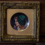 "Small Framed Portrait of a Woman - H7.5"" x W7"""